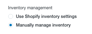Manually Manage Inventory