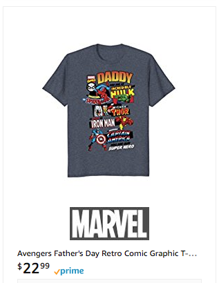 Marvel Fathers Day Shirt