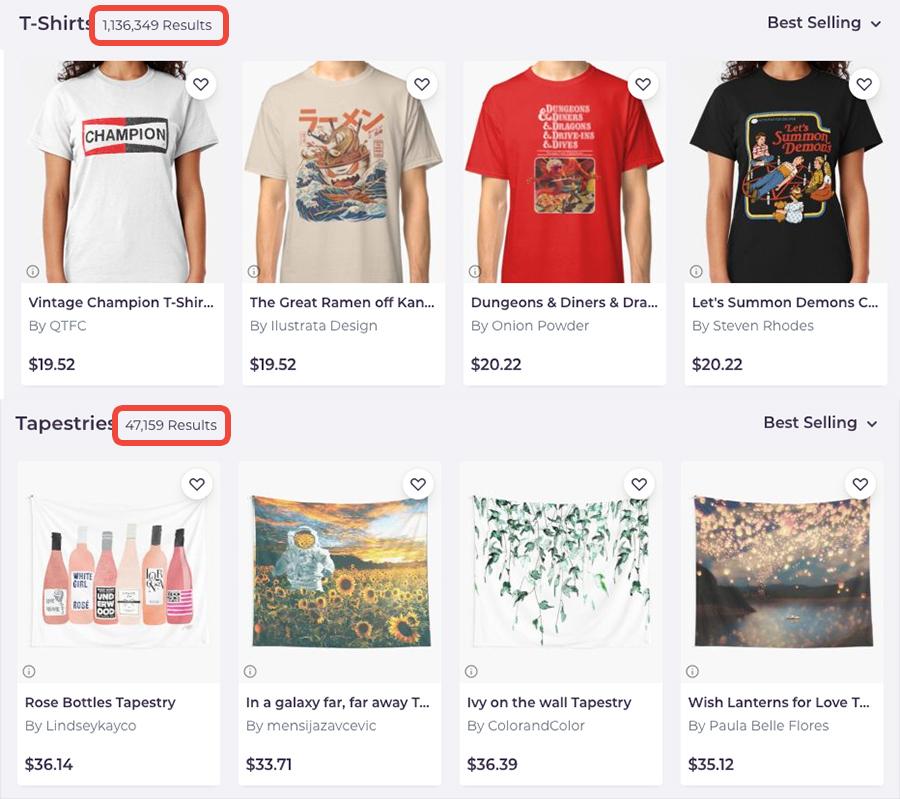 Redbubble T-Shirts vs Tapestries