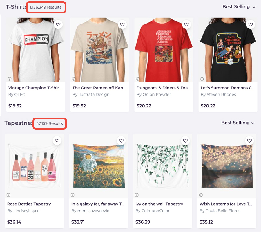 Redbubble T-Shirts vs Tapestries