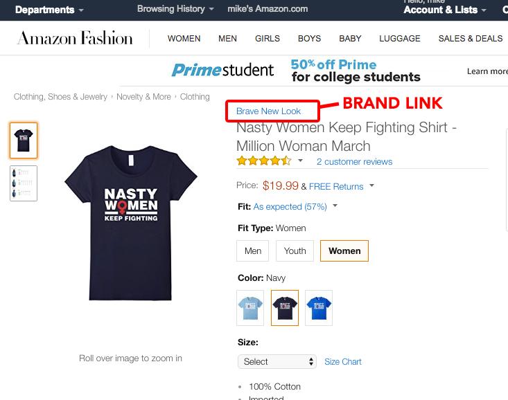 Merch By Amazon branding