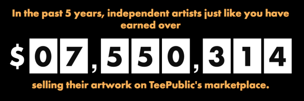 teepublic earnings