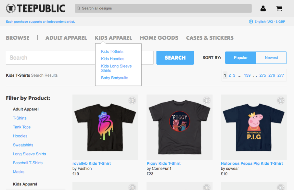 Teepublic Kids Trends